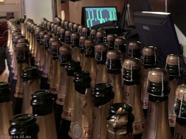 All this champagne was WASTED by Cunard