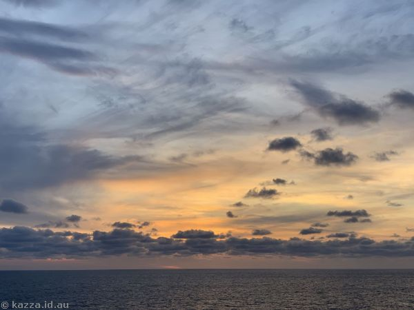 Sunset over the North Atlantic