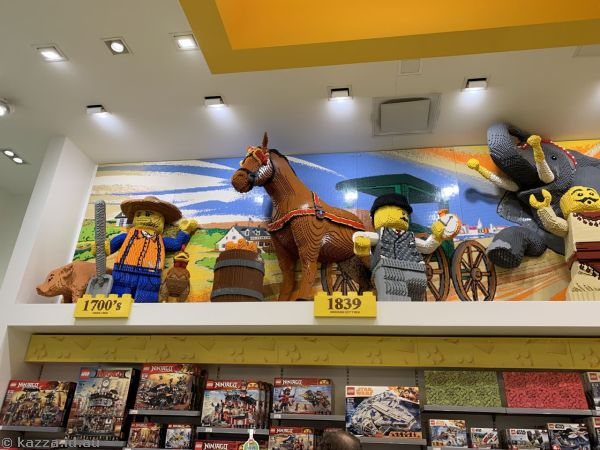 New York through time in the Lego Store