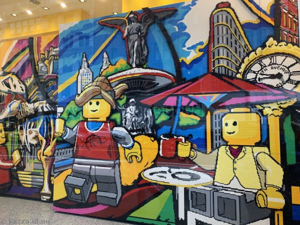 Huge mosaic in the Lego store
