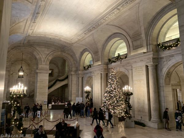 Foyer of the New York Public Library