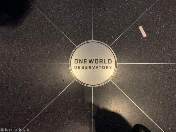 One World Observatory plaque