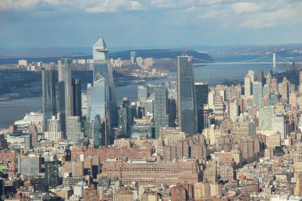 View north to Hudson Yards