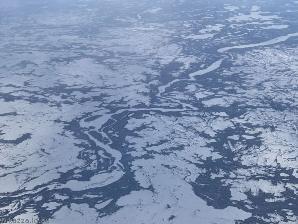 Snow and ice covered scenery in Canada