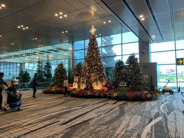 Christmas trees at Changi Airport