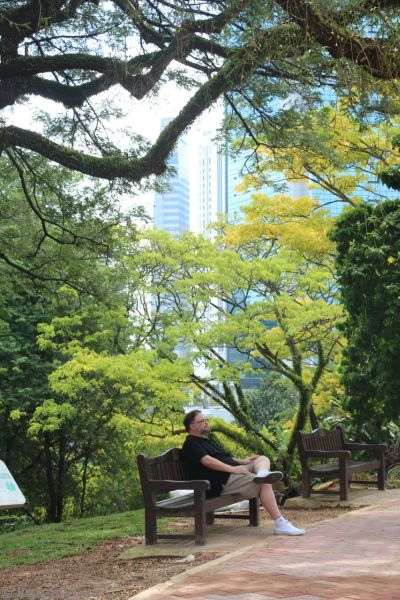 Stu in Fort Canning Park