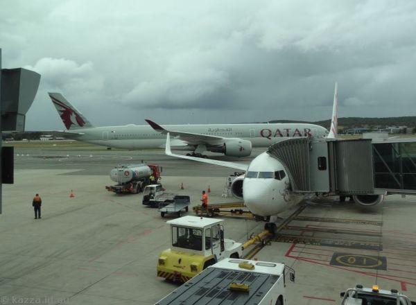 Qatar Airbus A350-1041 A7-ANG at Canberra Airport