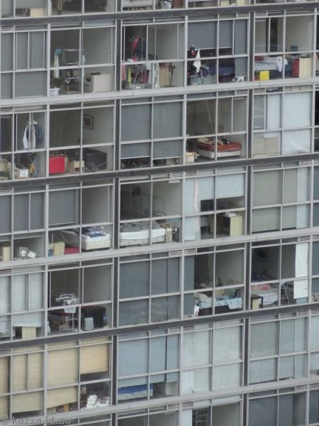 You could see everything inside these apartments