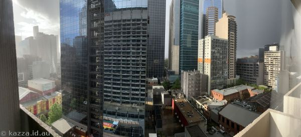 View from our hotel room