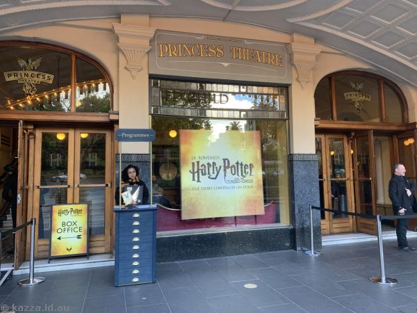 Entrance to Harry Potter and the Cursed Child at the Princess Theatre