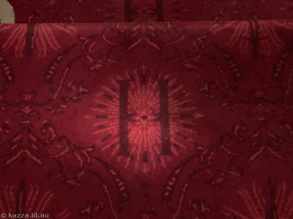 Even the carpet had been done in Hogwarts style