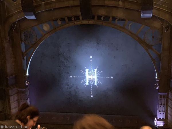 Inside the Princess Theatre during the intermission of Part 2 of Harry Potter