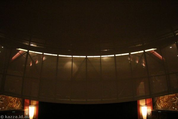 Illuminations Theatre planetarium dome from our seat