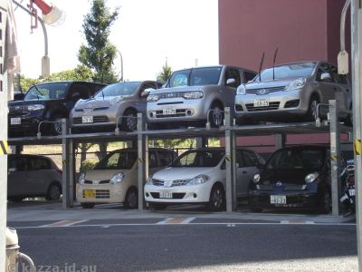 Small carparks, Japan style
