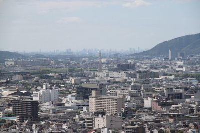 View towards Osaka from Kyoto Tower