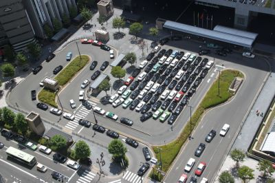 Taxis outside Kyoto Station