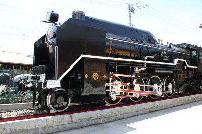 Old steam train near Arashiyama station