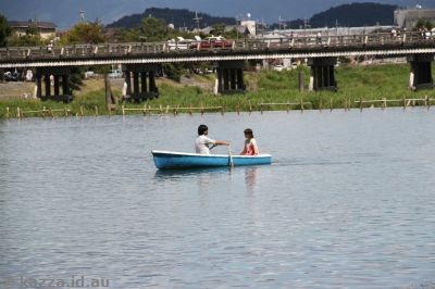 Canoeing on the river