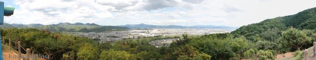 View of Kyoto from the top of Iwatayama