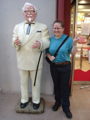 Having your photo taken with the Colonel is the done thing ;)
