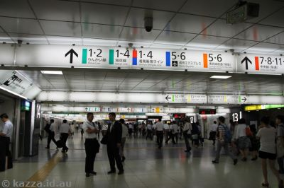 There's a lot of train lines at Shinjuku station