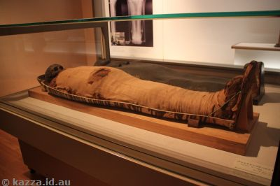 Mummy of Pasherienptah, excavated at Thebes, Egypt