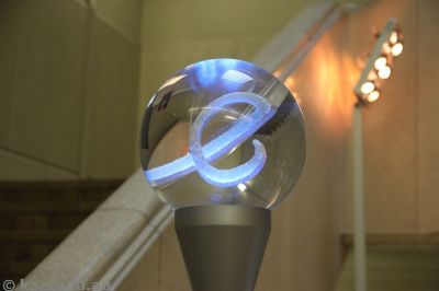 Funky glass ball light