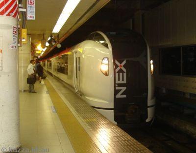 NEX arriving at Tokyo station