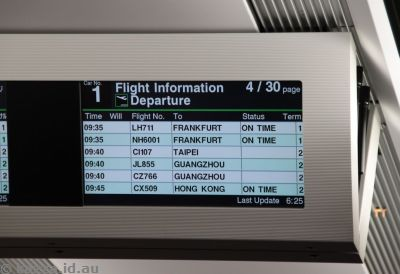 Airport info boards on the NEX