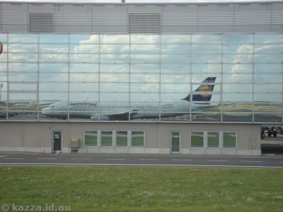 Our plane, reflected