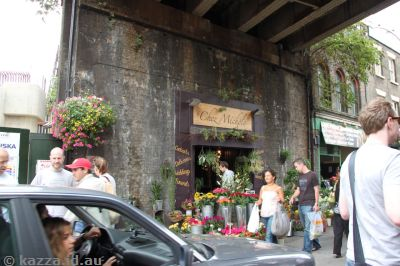 Location of the Leaky Cauldron in Prisoner of Azkaban.  It's now a florist.