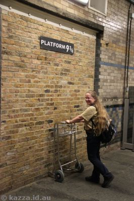 Platform 9 3/4!!  This has been moved as of 2012 apparently