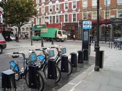 Bicycles for hire in Earl's Court