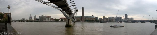 River Thames with Millennium Bridge and Tate Modern