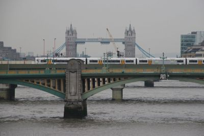 Looking down the Thames