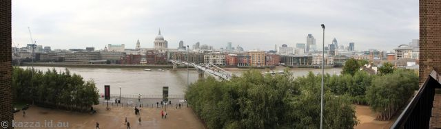 View from a balcony in the Tate Modern