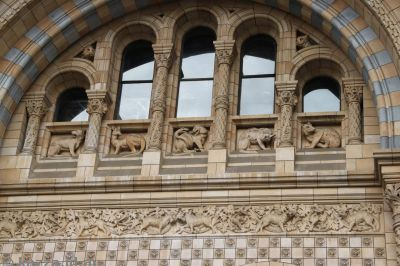 Amazing stone carvings were all over the building - inside and out!