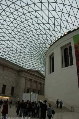 The grand foyer of the British Museum