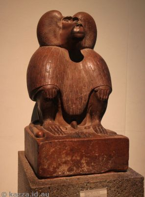 Quartzite figure of baboon, about 1400 BC
