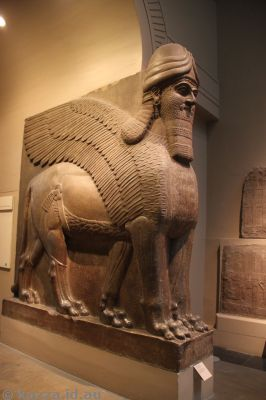 Winged human-headed lion, Assyrian