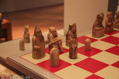 The Lewis Chessmen, as seen in Harry Potter :)