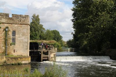 Avon River and turbine room of the castle