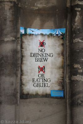 No Drinking Brew, or Eating Gruel