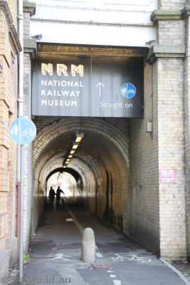 Tunnel through to the National Railway Museum