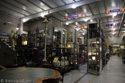 The Warehouse was filled with all sorts of cool railway artifacts