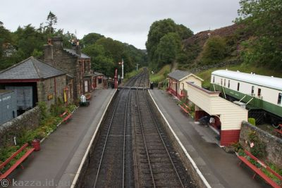 Goathland Station from the overpass bridge