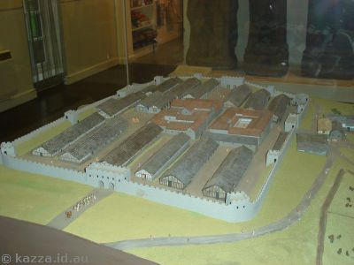 Model of Housesteads fort
