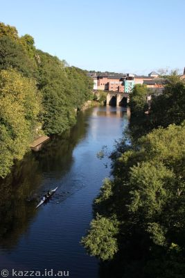 Kayakers on the River Wear