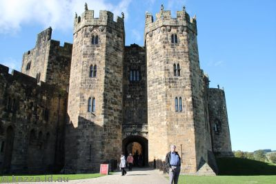 Inner building of Alnwick Castle