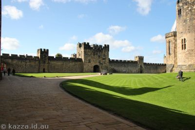 Alnwick Castle - give it here Malfoy or I'll knock you off your broom!